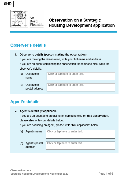 Picture of the Observation Form. If you click on the picture you will be able to download a copy of the Observation Form for you to use.